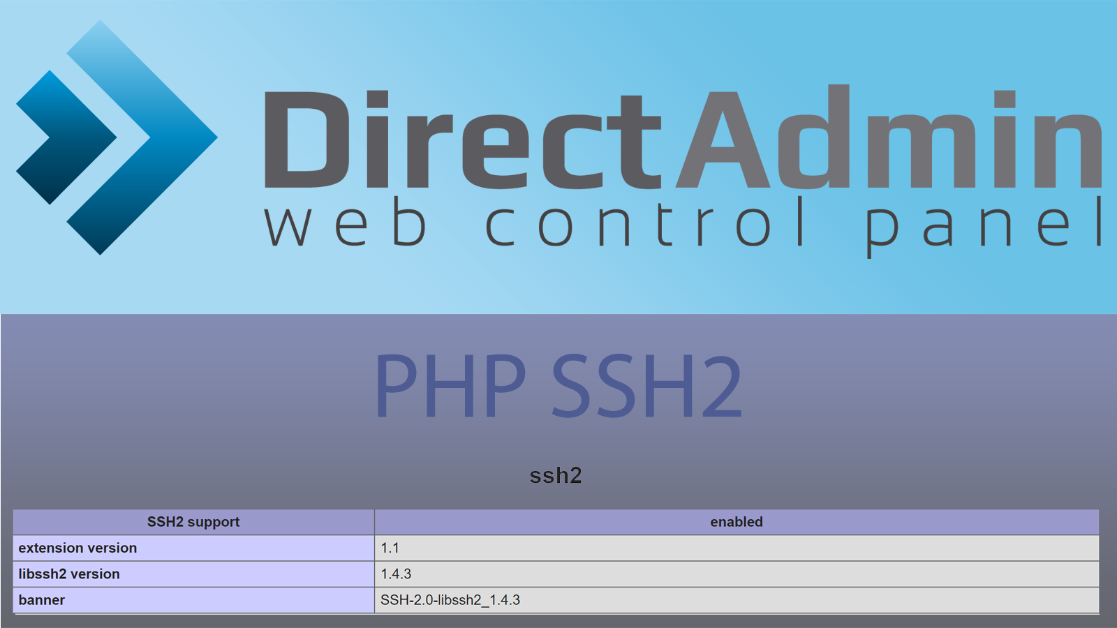Installing ssh2 extension for PHP on DirectAdmin server