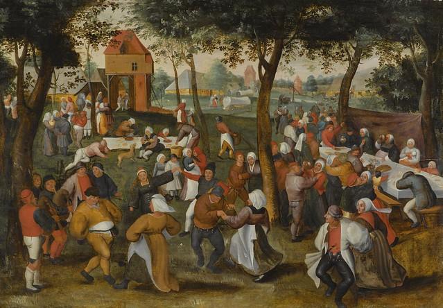 Marten van Cleve the Elder - An Outdoor Wedding Dance