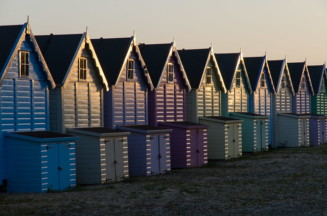 127/365 - Evening beach huts (Explored!)
