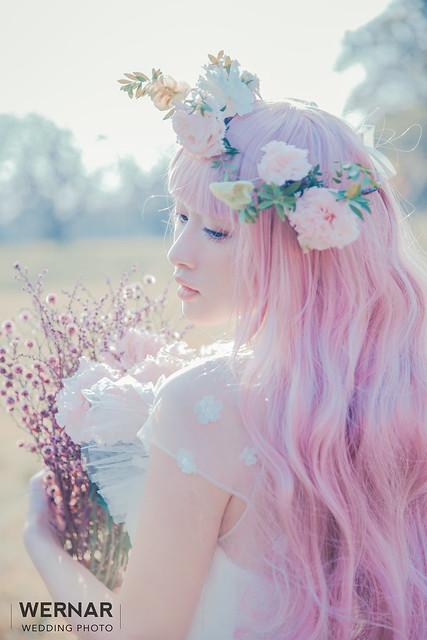 森系新娘,台中婚紗,新娘造型,日系新娘,新娘髮型,夢幻新娘造型,夢幻日系,精靈系新娘,Pony