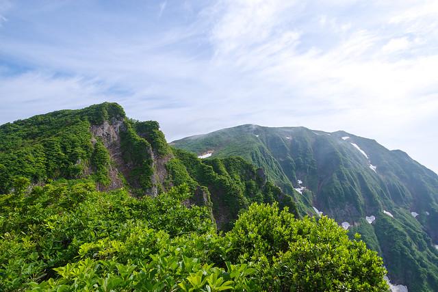 ムジナ沢カッチと浅草岳