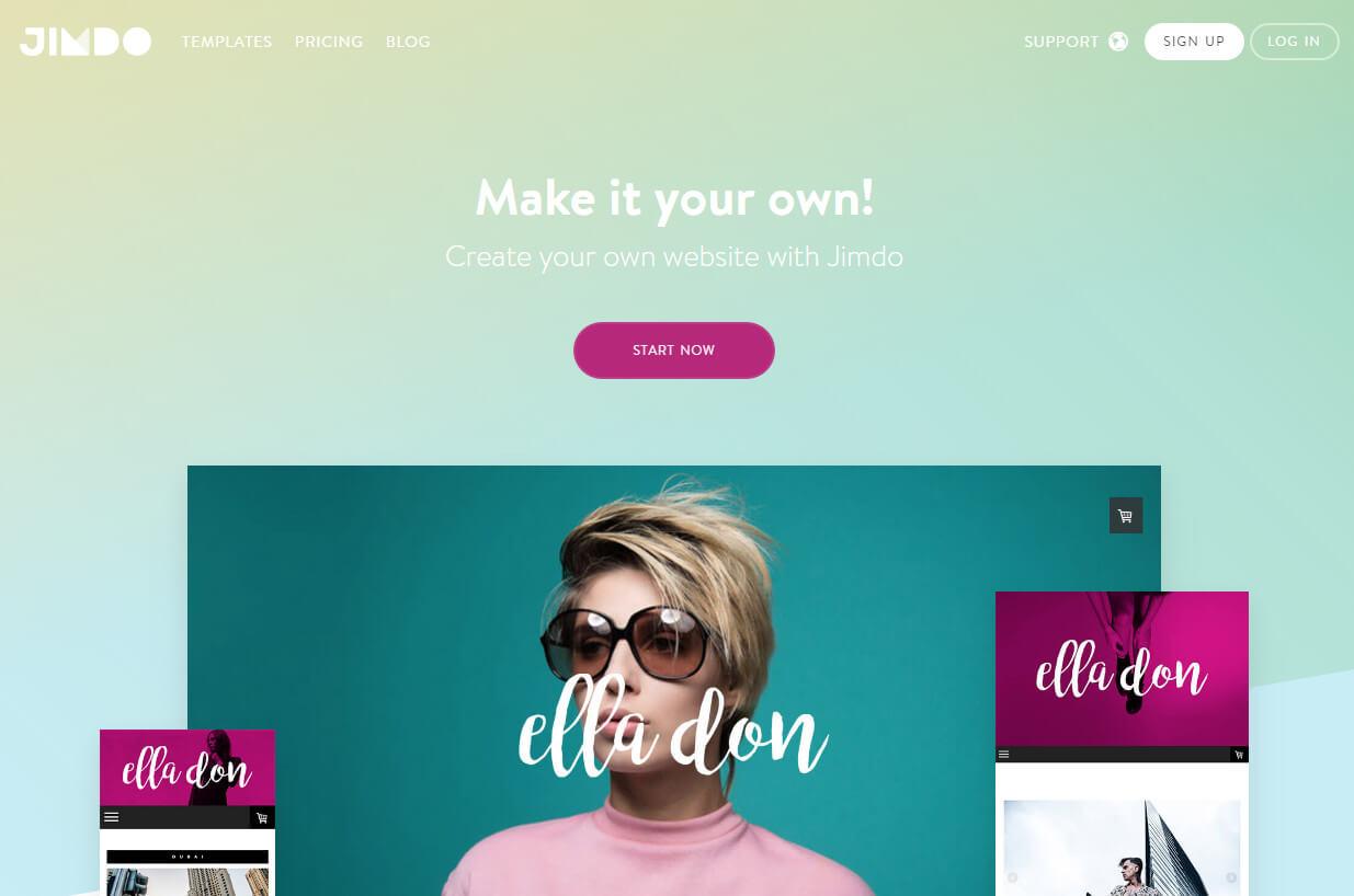 Online website Builder Jimdo – quality design