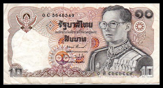 10 Baht papier