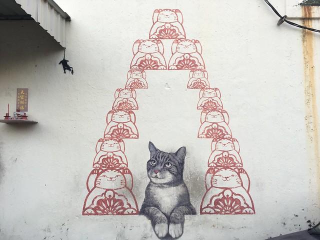 猫壁画が多い印象