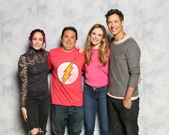 Caity Lotz, Danielle Panabaker and Tom