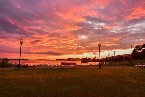 lbi clouds sunset shipbottom nj newjersey longbeachisland bay