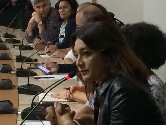 Participam o Movimento Humanos Direitos - da atriz Dira Paes (foto) -, MST, CUT, CPT, Contag, Sociedade de Direitos Humanos, entre outros - Créditos: Lucivaldo Sena