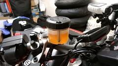 fresh brake fluid (Super DOT 4)