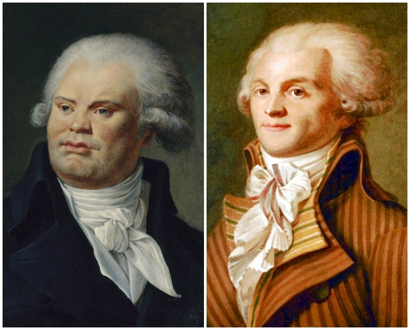 Georges Danton and Maximilien Robespierre