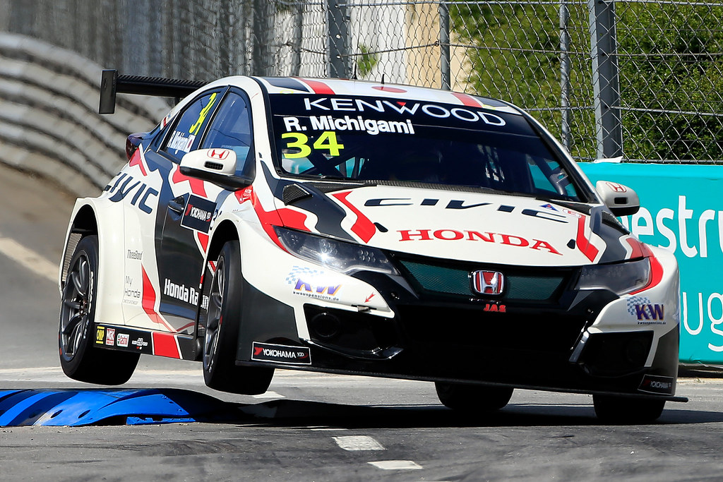 34 MICHIGAMI Ryo (jpn) Honda Civic team Honda racing team Jas action during the 2017 FIA WTCC World Touring Car Championship race of Portugal, Vila Real from june 23 to 25 - Photo Paulo Maria / DPPI
