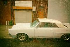 retro ride and raindrops