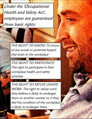 Educational Postcard: Get educated about workplace safety