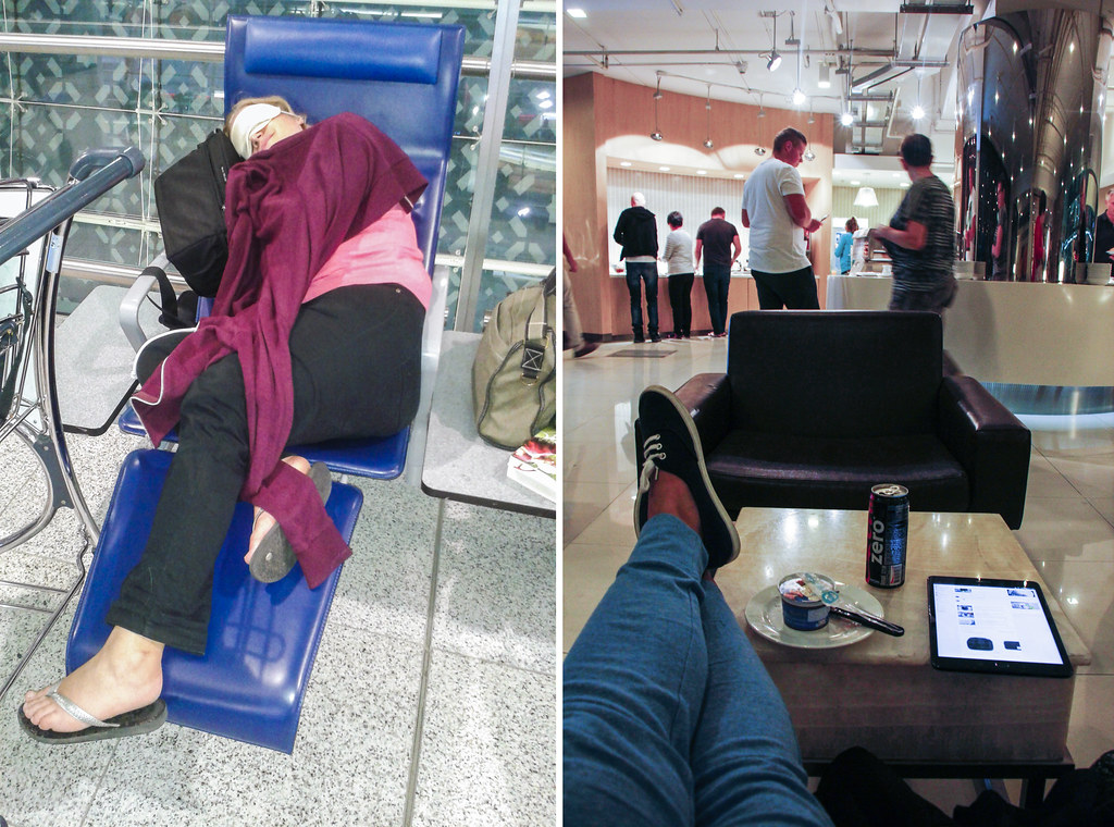 At sove i lufthavne