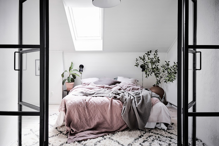 Swedish Attic with Soft and Feminine Vibe