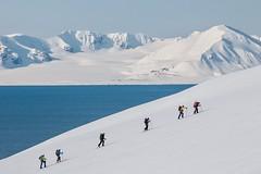 Skitouren Norwegen mit Schiff/Boot Spitzbergen, Svalbard. Foto: Birgit Gelder.