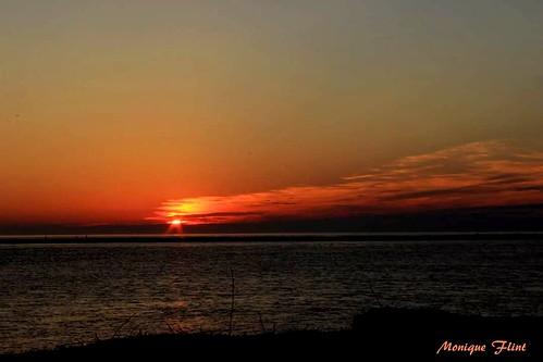 sunrise sun morning beach landscape nature ocean seaside sea coast orange