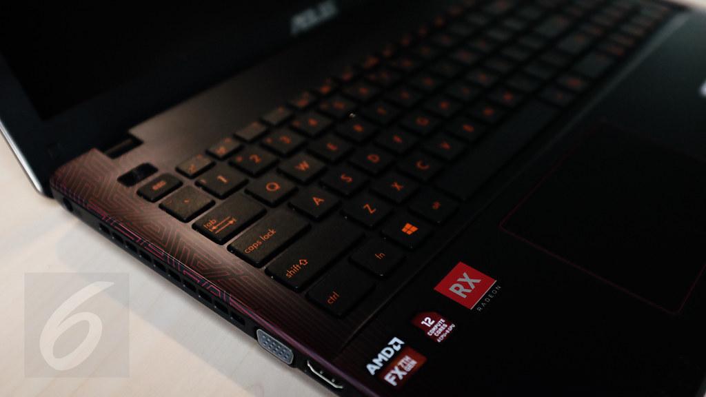 Area keyboard Asus X550IU. Liputan6.com/Iskandar