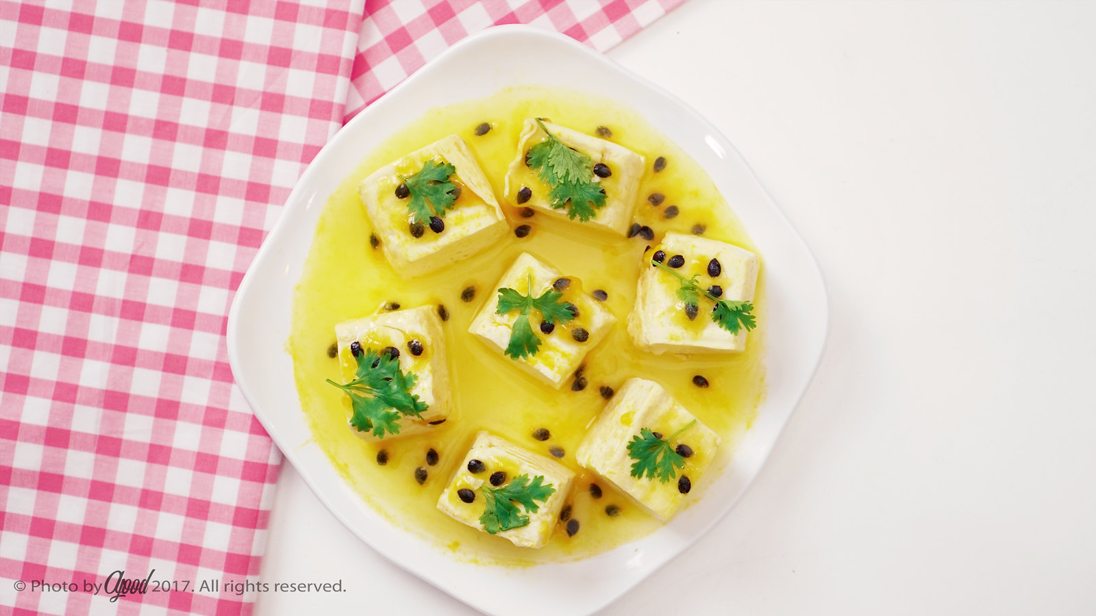 Tofu with Passion Fruit Sauce