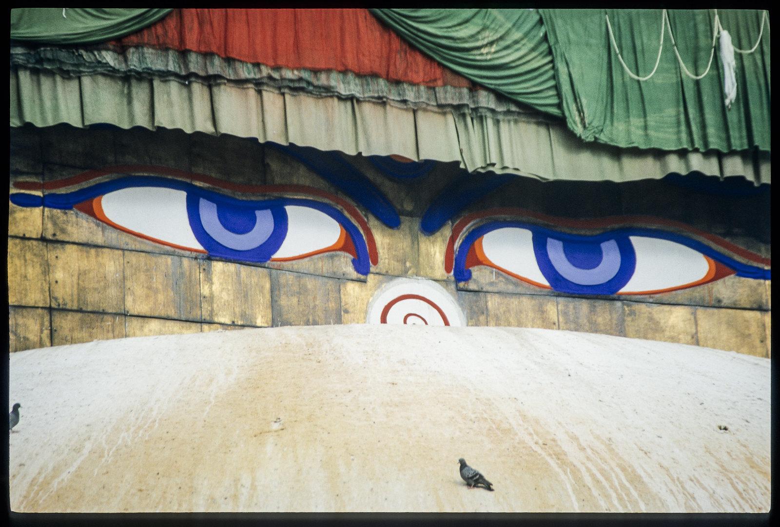 Bodnath temple, sous les yeux du boudha - Les yeux de l'éveillé