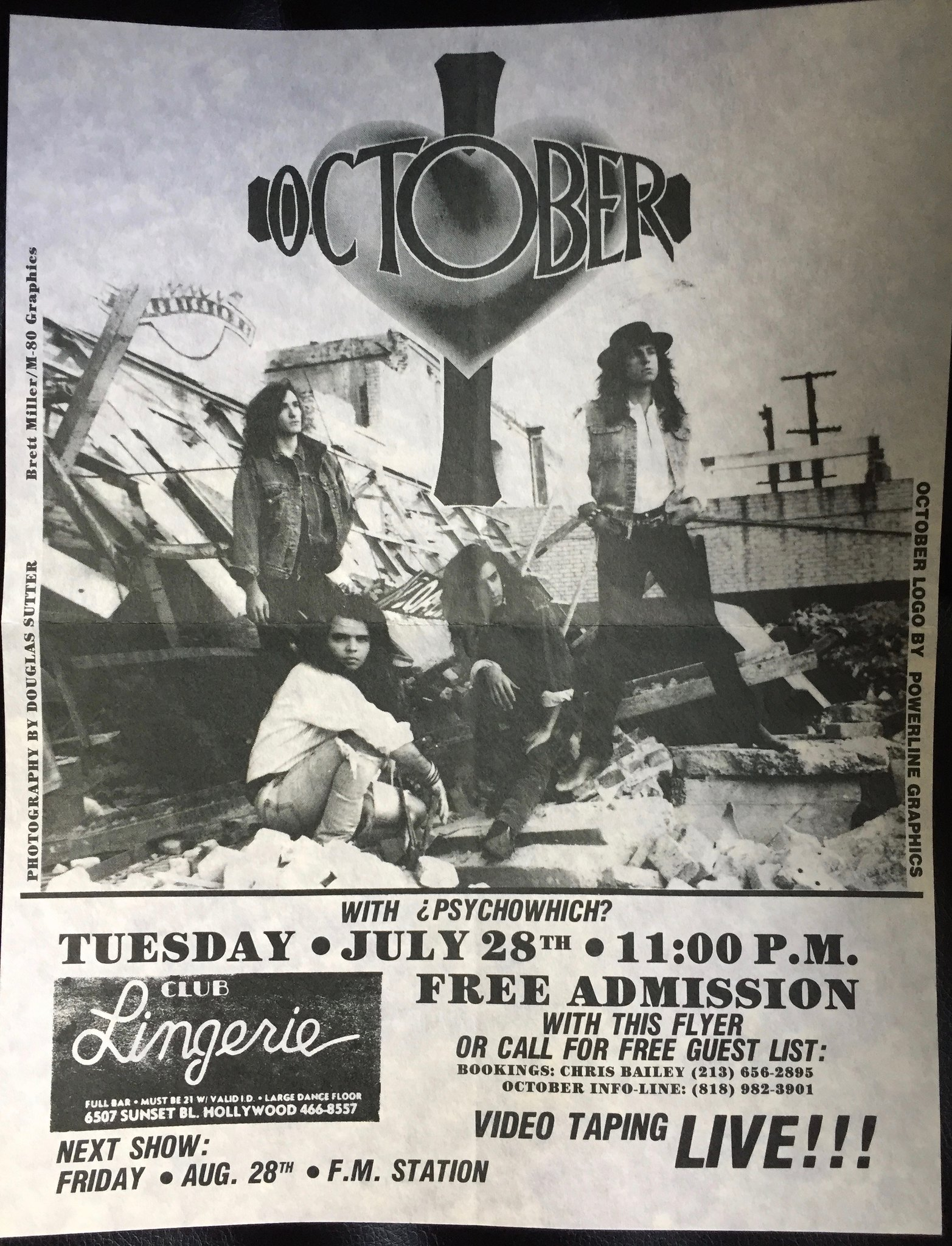 1980s LA Band Flyers