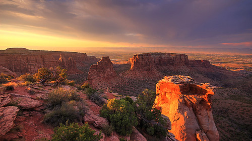 colorado national monument grand junction view sunset