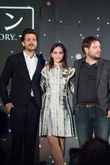 Rogue One: A Star Wars Story Japan Premiere Red Carpet: Diego Luna, Felicity Jones & Gareth Edwards