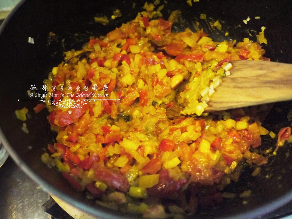 孤身廚房-Staub媽咪鍋煮超滿的印度蔬食花椰菜咖哩20