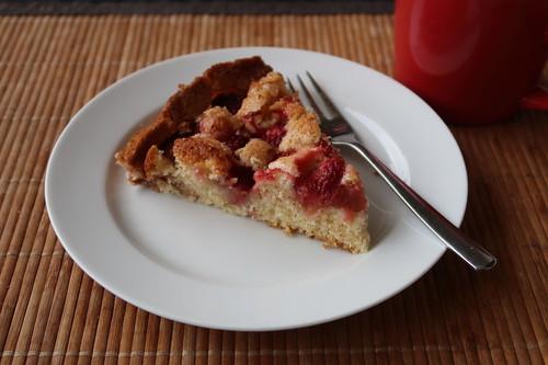 Sommerkuchen mit Erdbeeren (mein Stück)