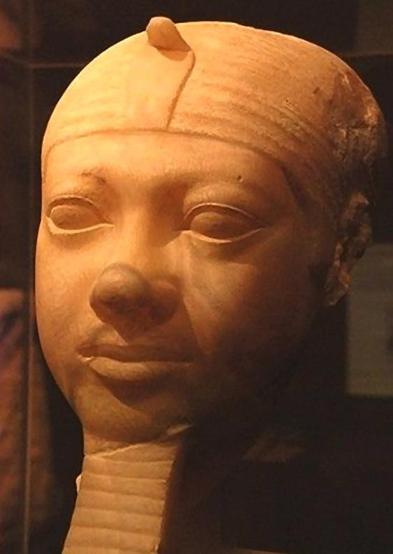 Fragmentary statue head of Shepseskaf