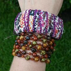 Fabric bracelets coming soon! Shop link in description 🌹