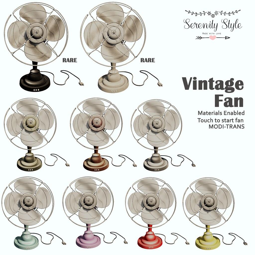 Serenity Style- Vintage Fan Gacha Key - SecondLifeHub.com