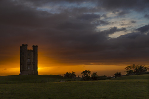 broadwaytower sunset worcestershire landscape tower cotswolds northcotswolds broadway canon canon6d 6d sky