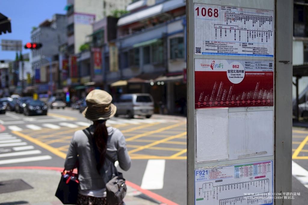 Nikon D800E Nikkor 35-70mm AF f2.8D 候車, 台灣好行北海岸線金山老街巴士站
