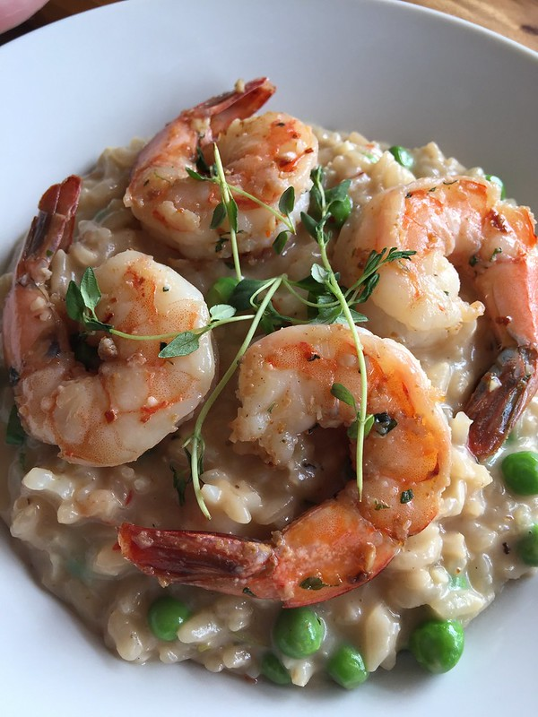 Shrimp & Peas Risotto