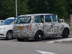 Uk Registeref Hybryd Test Mules in France . (Possible Future London Black Taxis)