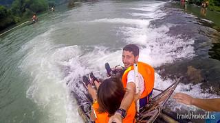 Bamboo rafting