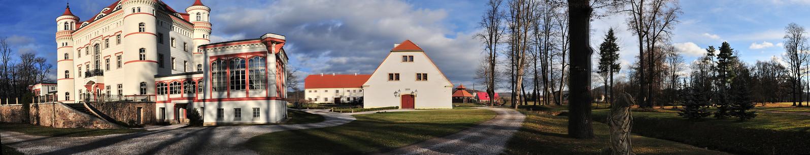 Wojanov Palace and grounds, Lower Silesia, Poland