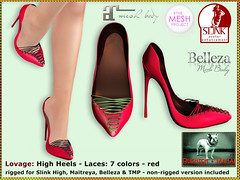 Bliensen - Lovage - High Heels - red