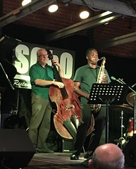Saxophonist Rickey Woodard is Blowin' Hot Jazz Today with the Jon Mayer Quartet @ Soho in Santa Barbara, California