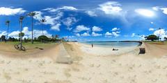Magic Island at the Ala Moana Beach Park in Honolulu - a 360° Equirectangular VR