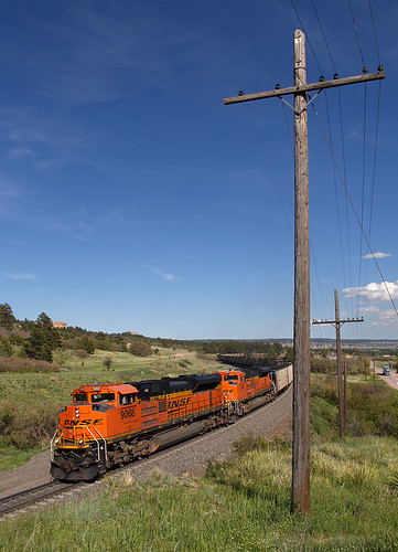 bnsf bnsf9068 emd sd70ace palmerlake colorado jointline train railroad