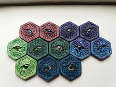 Dragon eyes coins (various colors)