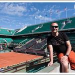 Sur le Court Central de Roland Garros