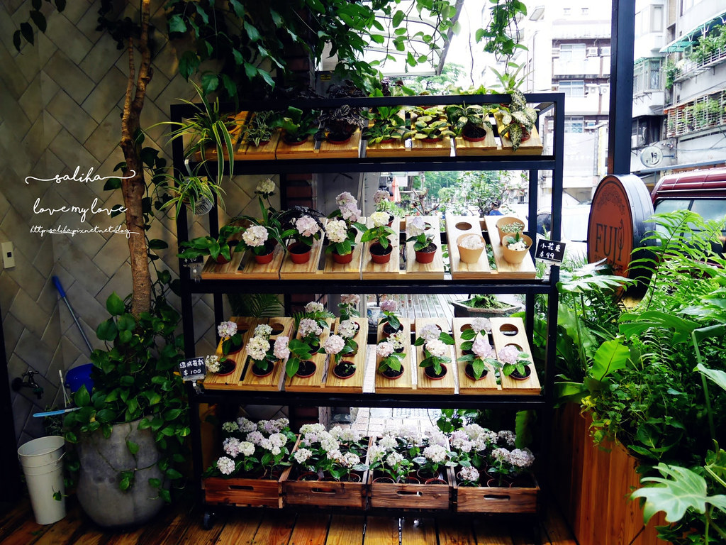 台北信義區花店咖啡館餐廳推薦FUJI FLOWER CAFE (36)