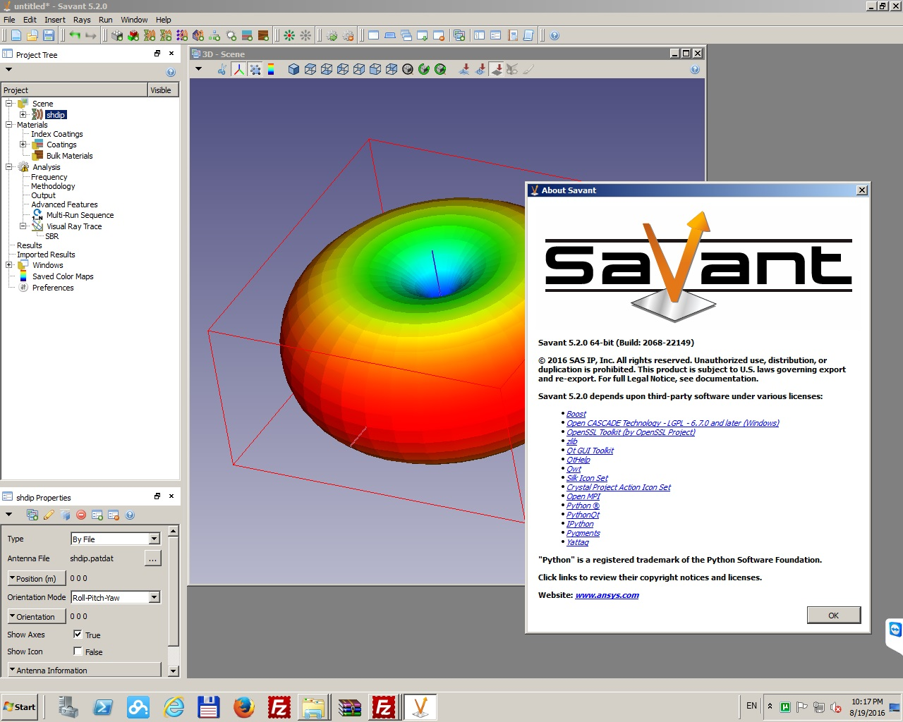 Working with Savant 5.2 ANSYS Electromagnetics Suite 17.2 Win64