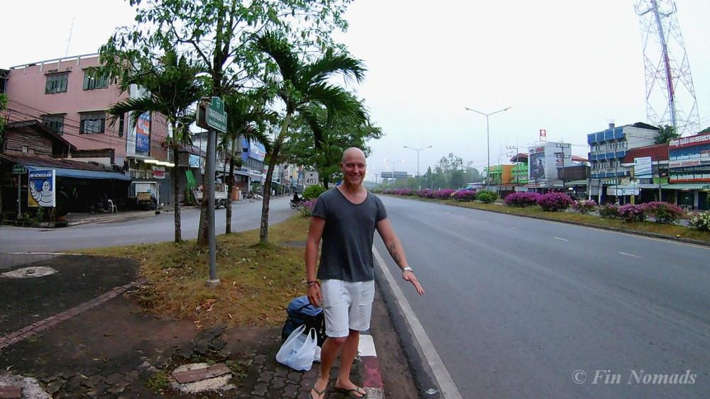 hitchhiking Surat Thani
