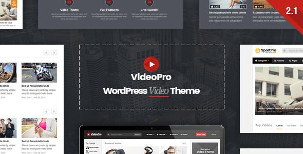VideoPro v2.2.1 – Video WordPress Theme