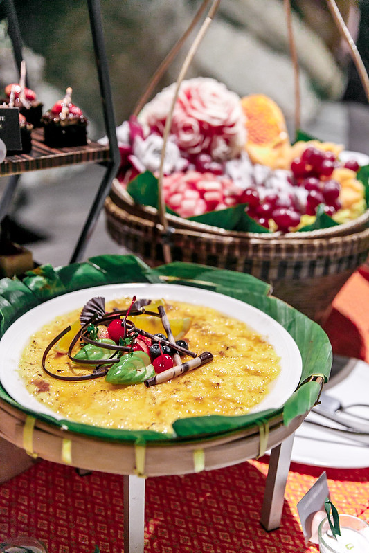 creme brulee, the dessert table, best food in Ko Samui