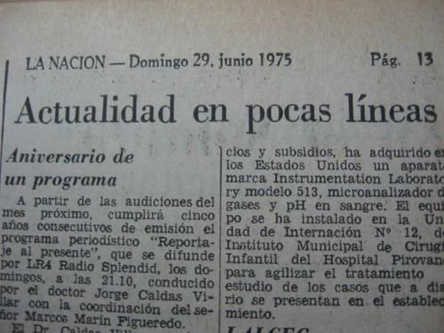 Diario La Nación 29/06/1975 V