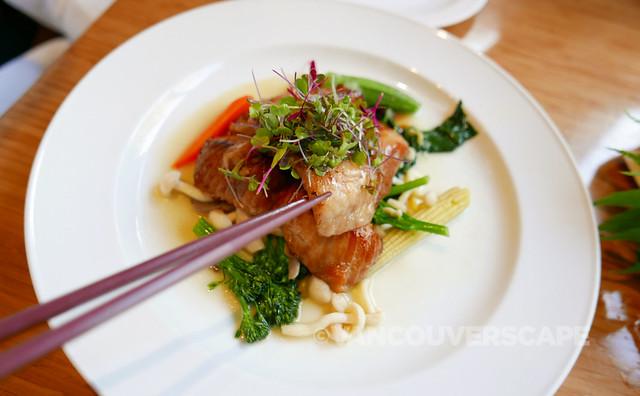 Baked Canadian sablefish with Tojo's secret marinade